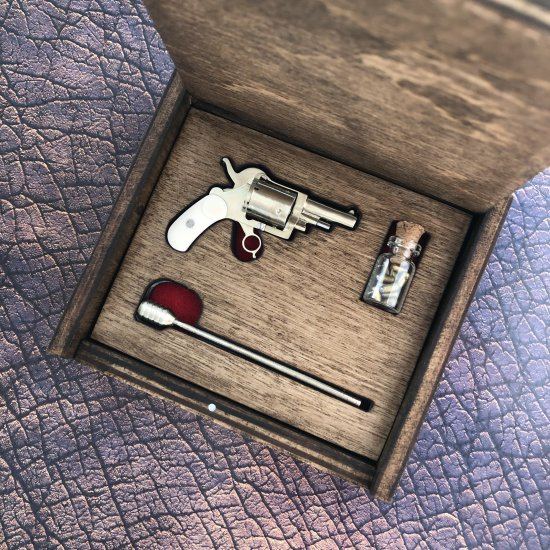 2mm pinfire gun Belgium Pocket Revolver