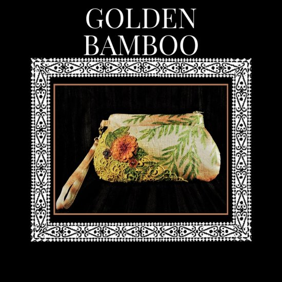 Golden Bamboo Silk Handcrafted hand painted