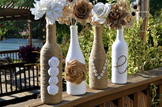handmade bottle vase