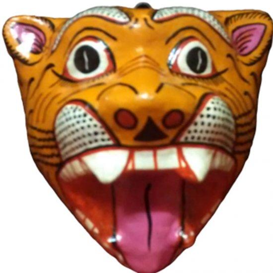 Papier Mache Mask of Tiger