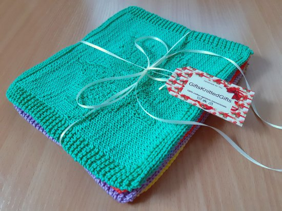 Dishcloths cotton 100%, Dishcloths in 5 designs, Knitted decor kitchen, Knitted Dishcloths, Housewarming gifts