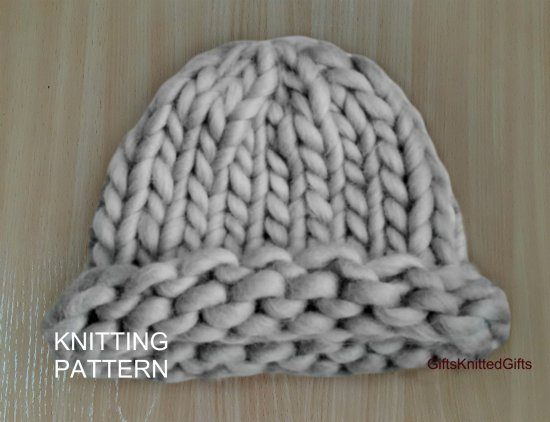 Chunky Knit Hat Pattern, Knitting Pattern Hat for Women, Easy Knitting Patterns, Winter Hat Knit, Hat Knit Woman