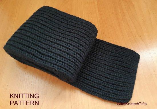 KNITTING PATTERN Scarf, Hand Knit Scarf Pattern, Warm Scarf Knitting Pattern, Winter Scarf Knitting Pattern