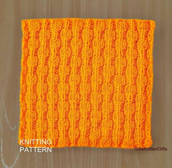 KNITTING PATTERN Dishcloth, Beginner Knit Dishcloth Pattern, Knit Washcloth Pattern, Housewarming gift
