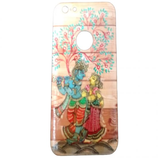 A Radha Krishna Wooden Back Cover Case For Apple Iphone 6 Plus