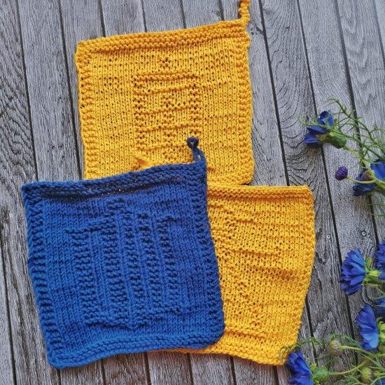 dishcloths knit, handmade dishcloths, doctor who, tardis, dalek