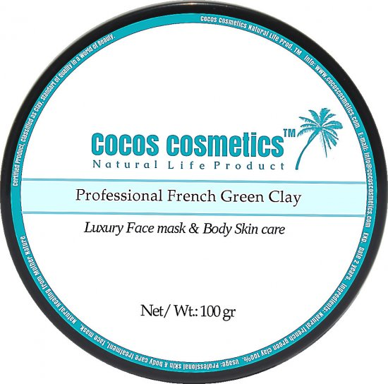 French green clay mask / facial green mask / Green Mask / Acne Clay Mask/ Cosmetique Argile Verde Masques/ Anti aging