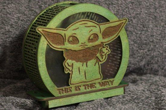 Little Yoda - themed wooden Piggy bank