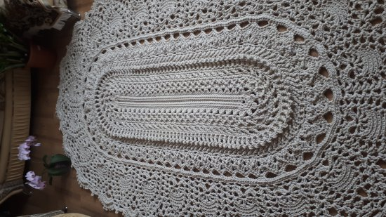 Crochet rug, oval ivory color carpet. Carpet to order. Handmade carpet. Rug. Decor for home.