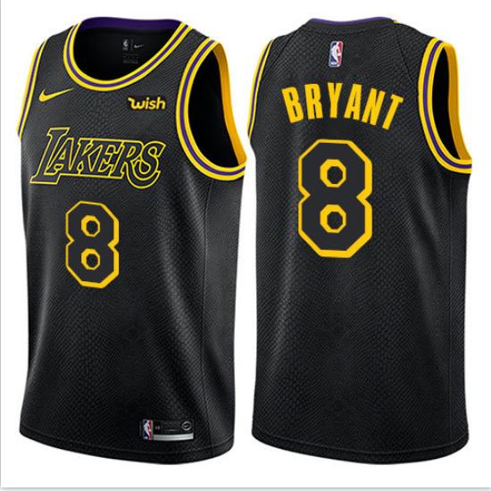 Men's Los Angeles Lakers #8 Kobe Bryant Black Mamba Jersey
