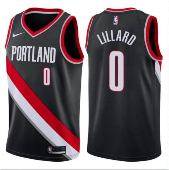 Men's Portland Trail Blazers #0 Damian Lillard Black Icon Edition Jersey