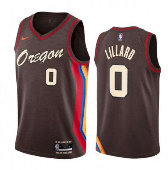 Men's Portland Trail Blazers #0 Damian Lillard City Edition Jersey