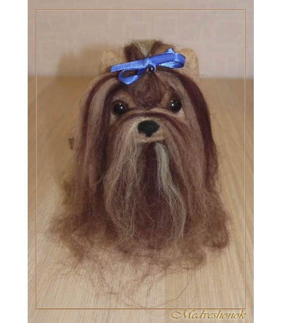 Dog. A lapdog. A toy. Felting from wool