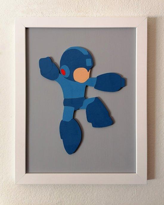 Handmade Mega Man minimalist wood wall art #4