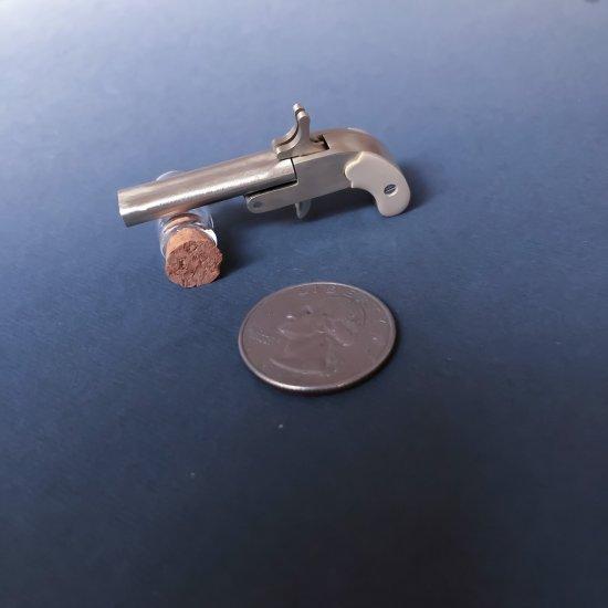 2mm pinfire miniature Mouse double-barreled gun