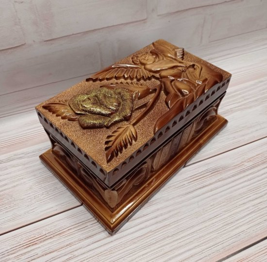 handmade box made of wood