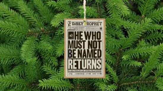 Daily Prophet Inspired Single-Sided Front Page Christmas Tree Ornament / Decoration