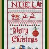 THIS Christmas Sampler is a 14 count cross stitch kit with DMC and Anchor and Ariadna Threads