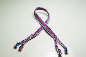 Red, Purple and Blue Friendship Bracelet