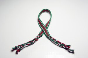 Red and Green Friendship Bracelet