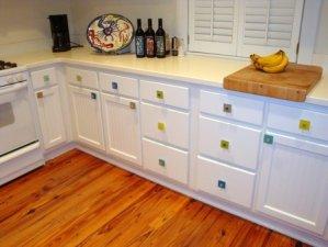 Sea Glass Cabinet Knobs, Drawer Pulls, Furniture Beach