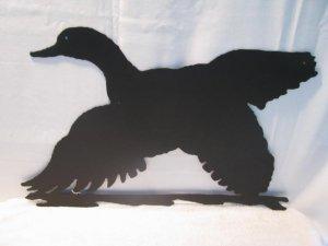Duck in Flight Metal Wall Art Silhouette