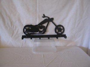 Motorcycle 002 Key Rack  Metal Wall Art Silhouette
