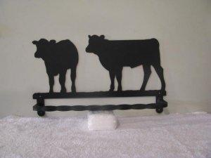 Calves Towel Rack Metal Wall Art Silhouette