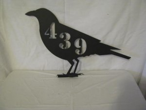 Raven Crow Mailbox Topper Metal Wall Art Wildlife Silhouette