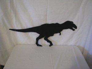 T-Rex Metal Wall Art Silhouette
