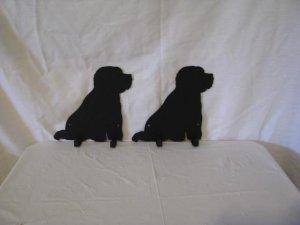 Bichon Frise 2 Hook Leash Holder Metal Dog Wall Art Silhouette