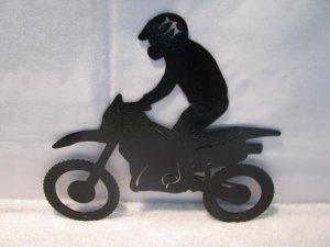 Motorcycle/Rider 007 Wall Art Metal Silhouette