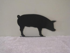 Pig Mail Box Topper Metal Art Silhouette