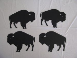 Herd of Buffalo Set (4) Metal Wall Art Silhouette Wildlife