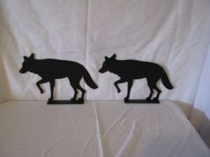 Coyote Metal Silhouette Mailbox Topper Set of 2