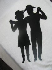 Cowgirl and Cowboy Dance 1 Metal Silhouette Western Wall Art