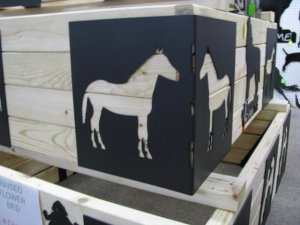 Horse 1 Raise Flower Bed Corner Kit Metal Silhouette