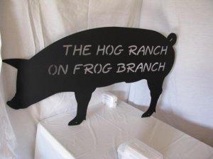 Hog Ranch Silhouette Metal Farm  Wall Art