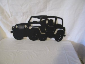 Jeep CJ Off Road Metal Wall Art Silhouette