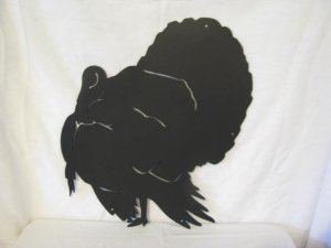 Tom Turkey 004 Metal Wall Art Wildlife Silhouette