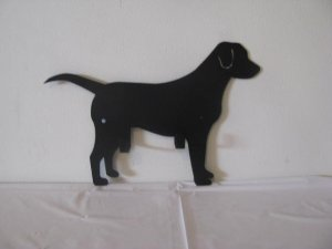 Dog Leash/Key Holder Metal Wall Art Silhouette