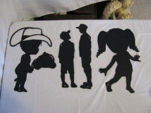 Kids Metal Wall Art Silhouette Set of 4