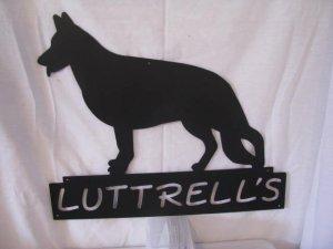 Personalize Metal Wall Art Silhouette Dog German Shepherd