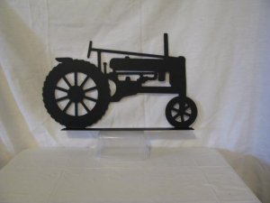 Tractor 039 Mailbox Topper Metal Farm Wall Art Silhouette
