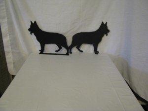 German Shepherd 002 Metal Dog Wall Art Silhouette and Mailbox Topper