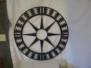 Ancient SW Indian  Design r08 Metal Wall Art Yard Silhouette