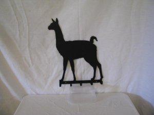 Llama 001 Key Rack Metal Farm Wall Art Silhouette