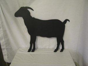 Goat 001 Metal Farm Wall Art Silhouette Large