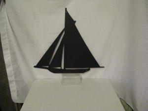 Sailboat 002 Metal Wall Art Silhouette