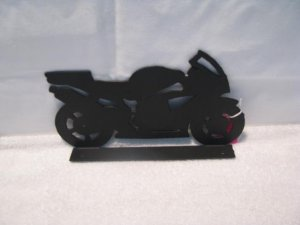 Motorcycle Mailbox Topper Metal Silhouette Art